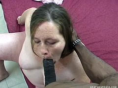 Pregnant whore Detroit like black meat and Rock has a big piece. He talks with her and then fed this slut with his big long cock. Yeah look at her swallowing his dick with lust. Perhaps a big load of cum in her throat will quench her crave for fucking or does she needs it in her white, fat ass?
