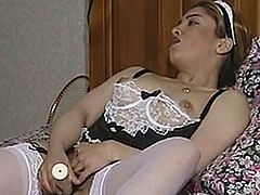 3 FRENCH MAIDS MASTURBATE