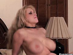 Candy Manson with gigantic tits is a hard dick addict