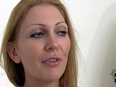 Glorious redhead mom has got outlandish body of young woman. She flashes her juicy jugs blowing my mind. Stunning MILF opens her legs caressing wet pussy with fingers.