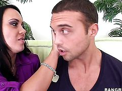 Mariah Milano with round butt gives dudes stiff snake a try