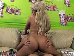 check out this super hot blonde whore with a big gorgeous ass and some arousing big titties as she gets licked and fucked and sucks cock.