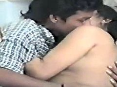 Naughty Indian wife has a foreplay with her hubby on retro video
