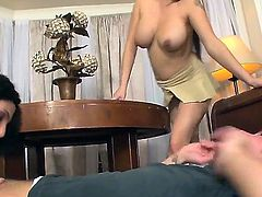 Roxanne Hall gags on rock solid ram rod of Sonny Hicks