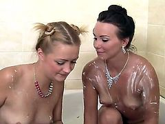 Blonde Devora is on fire in girl-on-girl action with lovely Alysa Gap