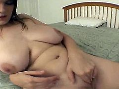 Turned on dark skinned Anthony with cheep tattoo sand long stiff sausage gets sucked good by chubby amateur brunette Natalie and fucks her hard in living room in close up.