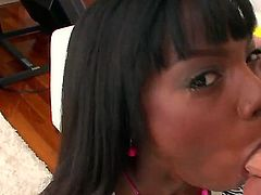Ana Foxxx is hungry for hard interracial sex
