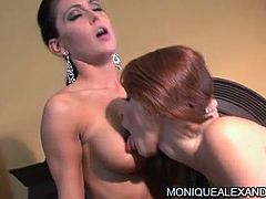 Having hot beauty next to her makes naughty pornstar to get wild and enjoy lesbian softcore