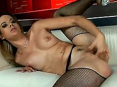 Blonde Chloe Delaure is in the mood for pussy dildoing