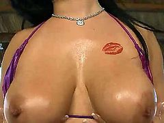 Latina Kitty Bella gets her bare hands attacked by dudes erect man meat