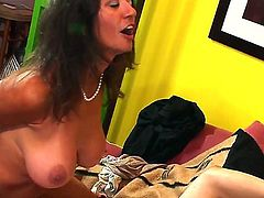 Gorgeous Persia Monir enjoys bending over and taking a fat cock down her hairy muff.