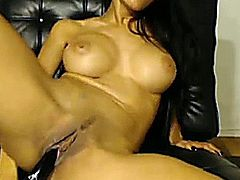 Very hot busty desi babe knows pleasure herself using her toy in front of the cam! Watch her slide her toy deep inside her tight cunt after lubing it with her mouth, riding it really good like she was riding a big cock!