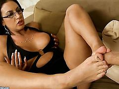 Mature Emma Butt with gigantic breasts takes love stick up her muff