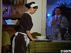 Jessyka is a dutiful maid, existing only to serve the milord with her best knowledge. If the servitude means to clean to the table, sure. If she has to serve the dinner, of course. If it means that she has to give the best blowjob and then offer