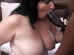 Fatty gets down and dirty and takes a huge black cock in this nasty scene. Cum and watch as she eats that black dong and takes it from behind.