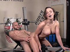 It appears to be true that this young slut skipping her lessons to fuck with her adult boyfriend. She rubs her clit while huge cock enters her tight sweet vagina on the workout bench.Horny guy banged her hard in various positions.Enjoy!