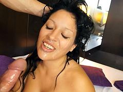 Horny brunette likes feeling her pussy get nailed hard in amazing and wild hardcore