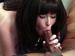 See the naughty brunette belle Zoe Nixon devouring her man's thick dong before he pounds her hot pussy into a breathtaking explosion of pleasure in this hot vid set by Babes Network.