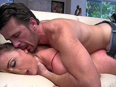 Tempting brunette bombshell Chanel Preston with firm hooters and smoking hot body gets her delicious ass licked and fucked hard by tall randy Manuel Ferrara with long stiff bazooka