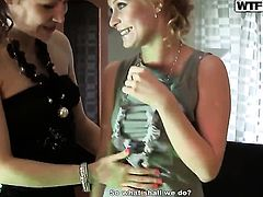 Blonde Yani wants this lesbian fuck session with horny Tolina to last forever