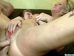 Simone Sonay is the blonde MILF in this video getting her pussy and asshole destroyed as she's getting gangbanged by five dudes!