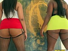 Two big asses whores are about to please Bruce. The bitches play with each other's asses and boobs and then Bruce goes between them to receive some attention. The girls go down and dirty and begin sucking his penis with lust. Does he has what it takes to fuck them both in the ass?