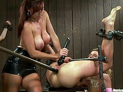 Watch these horny hotties having a great time in this bondage video where pleasure and pain seem to be the same thing for both of them.