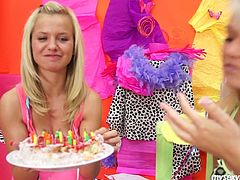 My Sexy Kittens xxx clip provides you with two alike looking blond hotties. They celebrate B'day. But what's for to waste time on eating the cake, when there's something more delicious? What? Slender gals with sweet boobs win a special dessert and it's each other's juicy pussies.