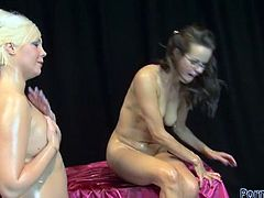 Dirty sluts get super dirty in this scene where they get naked to engage in hardcore pussy fisting.