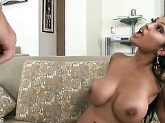 Priya Rai lets dude shove his hard dick in her mouth