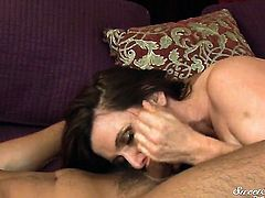 Nica Noelle gets her mouth banged so hard by Rocco Reed that she wont beg for more
