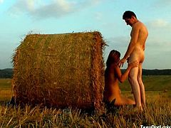This cute teen decided to take her boyfriend out to this field to enjoy the sunset. However, it wasn`t long before her natural urges started to take over. Before the sun had even set, her clothes were coming off and her pussy was becoming wet. First, she took his hard cock inside of her mouth. She`s just eighteen years old, but she knows how to suck cock. Then she took that dick deep inside of her very tight pussy. If there had been anyone around, they would`ve heard her moaning as he fucked her.