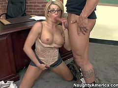 Round titted teacher Brooke Haven gets screwed