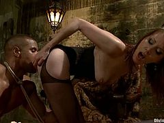 This big guy will get dominated by Maitresse Madeline who will do all sort of things with him, enjoying the femdom fun.