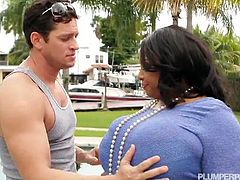 Shanice Richards seduced a young dude by the pool and gave him an amazing head. Her pussy was already wet and she took his young stiff cock!