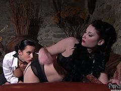 Watch these two fantastically curved lesbians,They are pleasing each other in tempting and voluptuous orgy,Sexy brunette babes Belicia and Cindy Dollar are sex hungry lesbians, Don't miss it!