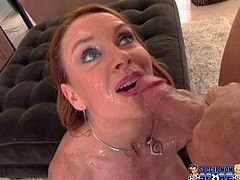 Janet Mason is a hot soccer mom having fun with two large cocks in this hardcore video where she ends up with her face covered by cum.