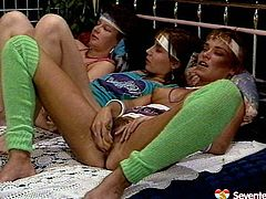 Raunchy hoes are going wild and naughty in provocative retro sex video. Devilish slut is fisted hardcore fucking in lesbian threesome action. Kinky Seventeen Video presented free on anysex.