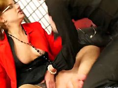 Two insatiable brunette sluts make out in the office wearing strict office wear. They reap each other's clothes off in order to get to soaking wet pussies in sultry lesbian sex video by Tainster.