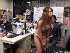 That's sort of a damn initiation! She is so lusty and so fucking horny! What happened to her is something hot and she enjoyed being fucked in the office!