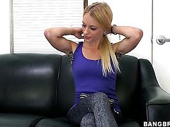 Cameron Canada with tiny breasts and shaved snatch loves getting her nice face sperm covered