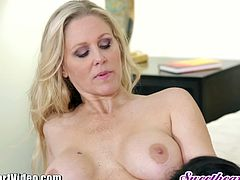 Julia Ann and Kendra Lust have hot and steamy make up lesbian sex after an argument and the pussy licking and fingering makes things all better.