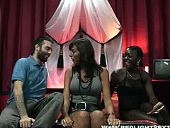 This dark-skinned slut is a natural born cock sucker and she is here to prove it. Just look how good she licks and sucks her client's dick.