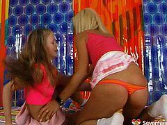X-rated babes boxing furiously. Having feisty catfight girls go hot and horny so they start dirty lesbian sex. Watch them kissing passionately while stripping.