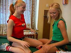 It's a time for extremely hot lesbian sex tube video featuring sexy teens in sport clothes who please each other on the billiard table. Enjoy playful teens right now.