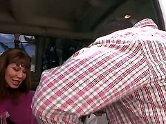 Ava Devine is one of the most famous pornstars and this time she gets picked up by a bang bus. Since she got in it she will have to do something for them just to let her out.