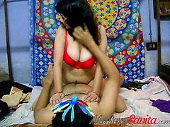 Savita bhabhi fucking her man riding on top of him until he epxploed his cum deep inside her