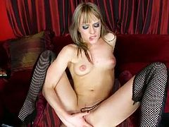 Blue Angel is a spectacularly perverse blonde slut, ready to bare it all and provoke with her hot ass and sexy tits. Doesn't she look ravishing in those fishnet stockings?