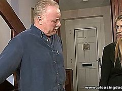 Two Old Farts Shave And Fuck A Young Pussy