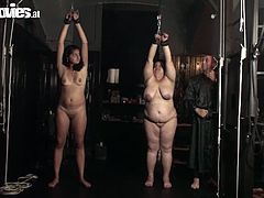 Fat ass bitch Lady Zolitaire handcuffs her new maids